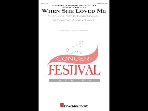When She Loved Me (SSA) - Arranged by Audrey Snyder