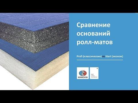 Сравнение ролл-матов Start и Profi производителя BORKOVER®