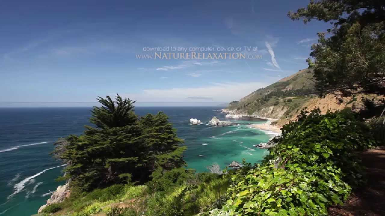 (2 Hour Nature Relaxation Video) A Day in Big Sur, California 1080p  Relaxation Video Pure Nature