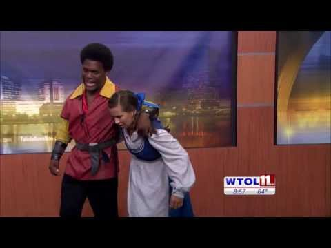 """3B Productions on WTOL 11:  Andrew Nauden and Katie Hotz sing """"Me"""" from Beauty and the Beast"""