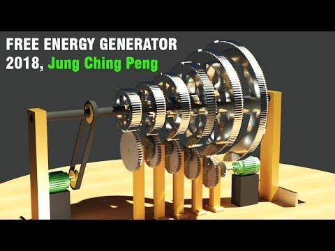 Free Energy Generator 2018, JUNG CHING PENG Inertia Constant Generator