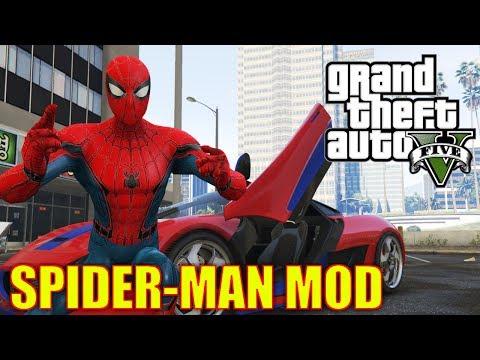 DIE BESTE SPIDERMAN MOD IN GTA 5  Wir schwingen uns durch Los Santos