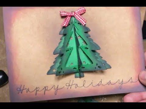 Diy Christmas Cards With The Cricut Machine Youtube