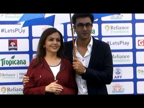 Ranbir Kapoor Launch Reliance Foundation Youth Sports With Nita Ambani