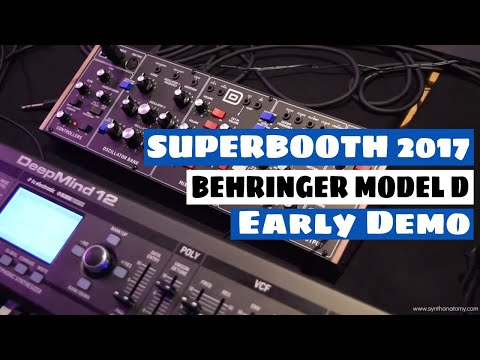 Superbooth 2017: Behringer D Synthesizer Sound Demo