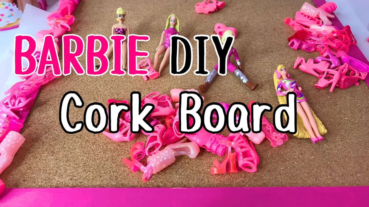 DIY BARBIE CORK BOARD w/ WORLD'S SMALLEST BARBIE and PINK DOLL SHOES ep1