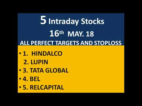 "#16 May.18 #Nifty/Bank nifty OPTION TRADING.|| ""5 stocks for Intraday i.e. 16May 18"