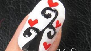 nail art tutorial tree of love heart romantic valentines day design for short nails home made diy