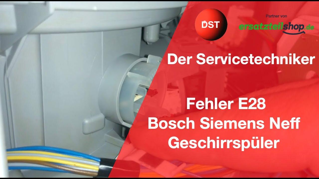 E28 Bosch Siemens Neff Constructa Spülmaschine Aquasensor
