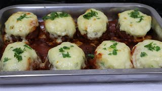 Carne Moída Recheada Com purê De Batatas