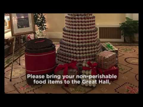 Say Goodnight to Hunger Christmas Tree at Omni Mount Washington Resort