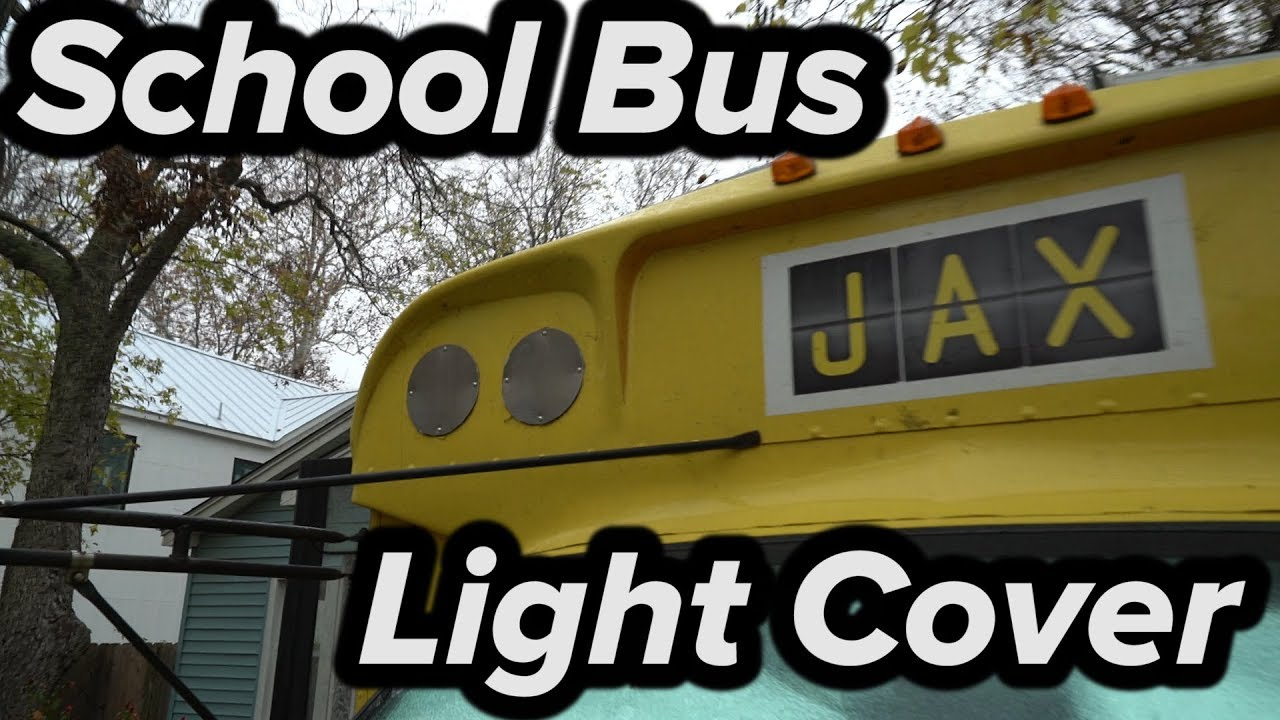 how to cover up school bus warning lights youtube