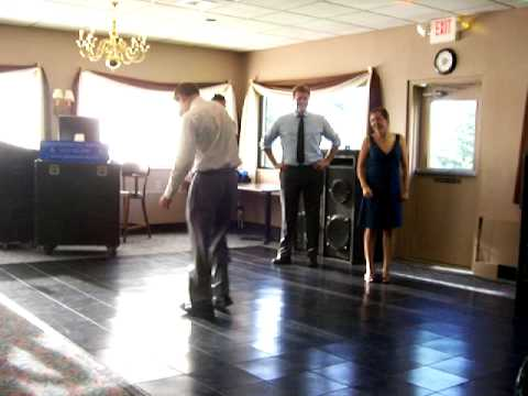 Casey Miller dancing at reception