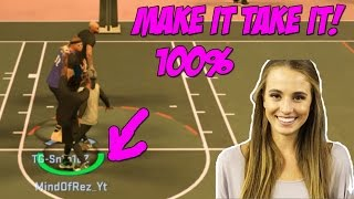 MAKE IT TAKE IT IS BACK! 100% WE DID IT! EASIER TO GET REP AND END GAMES FAST! NBA 2K17 MYPARK!