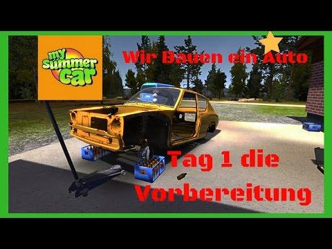 My Summer Car Wir bauen ein Auto Tag1 [DEUTSCH]