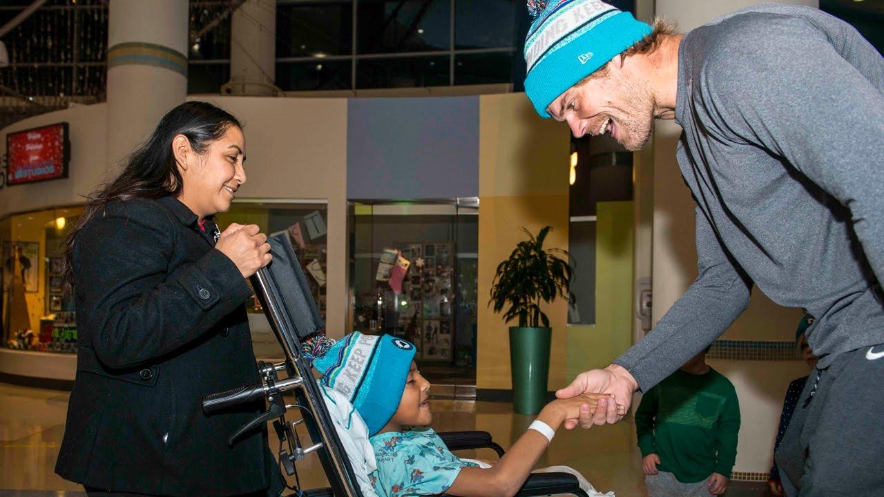 Greg Olsen Delivers Beanies to Levine Children s Hospital. Carolina Panthers b0eac011b