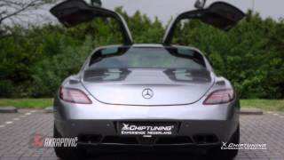 Mercedes SLS AMG with AKRAPOVIC - revs - roar - acceleration