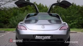 Mercedes SLS AMG with AKRAPOVIC - revs - roar - acceleration