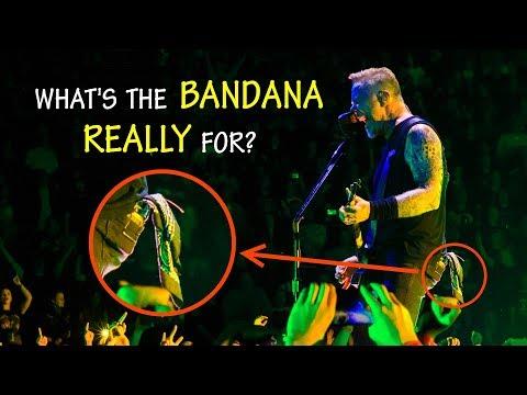 The mysterious BANDANA of James Hetfield (from Metallica, ya know)