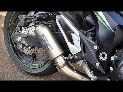 Kawasaki Z800 SC Project CRT Exhaust - Revs & Flyby