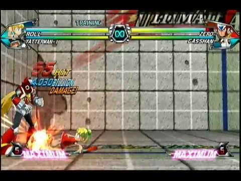 Roll Combos - 125-Hit Combo Included! - Tatsunoko VS Capcom: Ultimate All-Stars