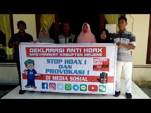Polres Majene~Deklarasi anti Hoax Pemerintah Desa Kayuangin Kec  Malunda