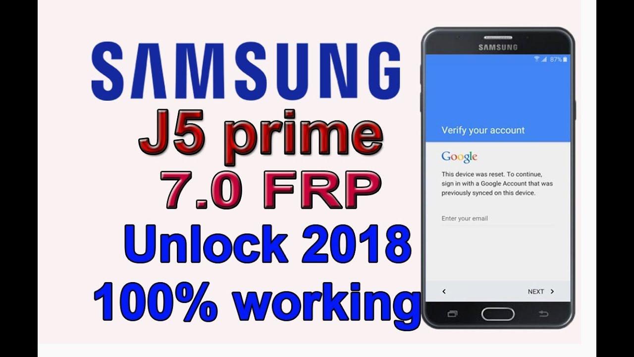 samsung j5 prime nougat 7 0 frp remove 100 done 2018 youtube. Black Bedroom Furniture Sets. Home Design Ideas