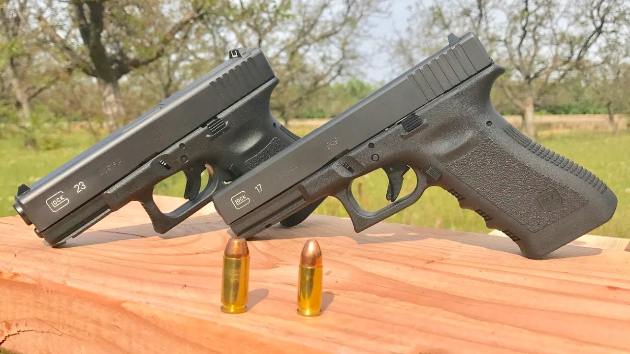 9mm Vs 40 Glock 19 Vs Glock 23 Youtube
