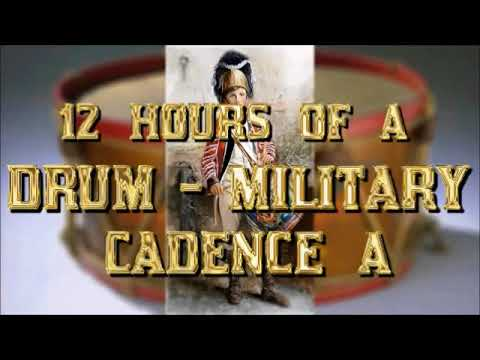 Military drumming cadence A