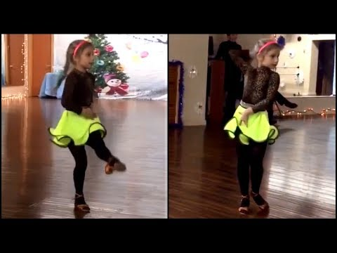 Anastasia Lepin Practice Jive Ft. Emmanuelle Gray (8 Years Old)