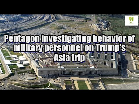 Pentagon investigating behavior of military personnel on Trump's Asia trip