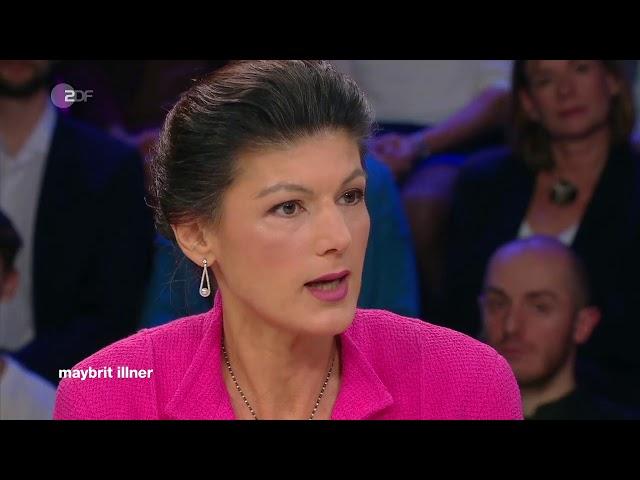 Sahra Wagenknecht am 28. November 2019 bei Maybrit Illner im ZDF