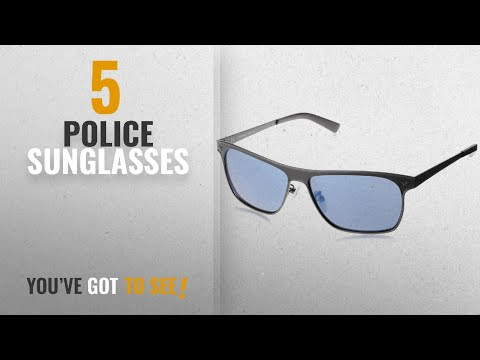 Top 10 Police Sunglasses [2018]: Police Mirrored Square Unisex Sunglasses - (S8948M58SNFBSG|58|Blue