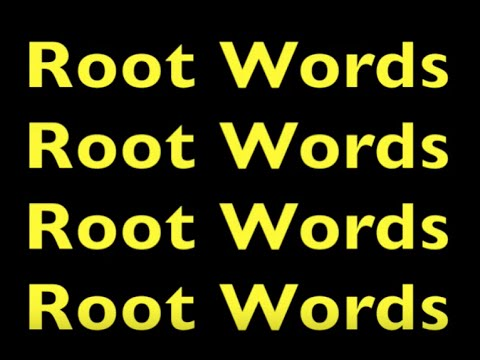 ROOT WORDS LESSON for First, Second, & Third Grade