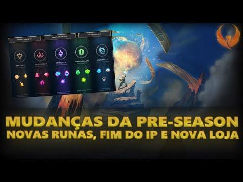 MUDANÇAS PRE SEASON - REWORK DAS RUNAS, FIM DO IP E NOVA LOJA!