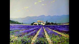 """Мастер-класс картина маслом """"Лавандовое поле"""".Lavender field.Picture"""
