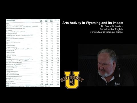 Bruce Richardson  at Saturday U in Sheridan: Arts Activity in Wyoming and Its Impact
