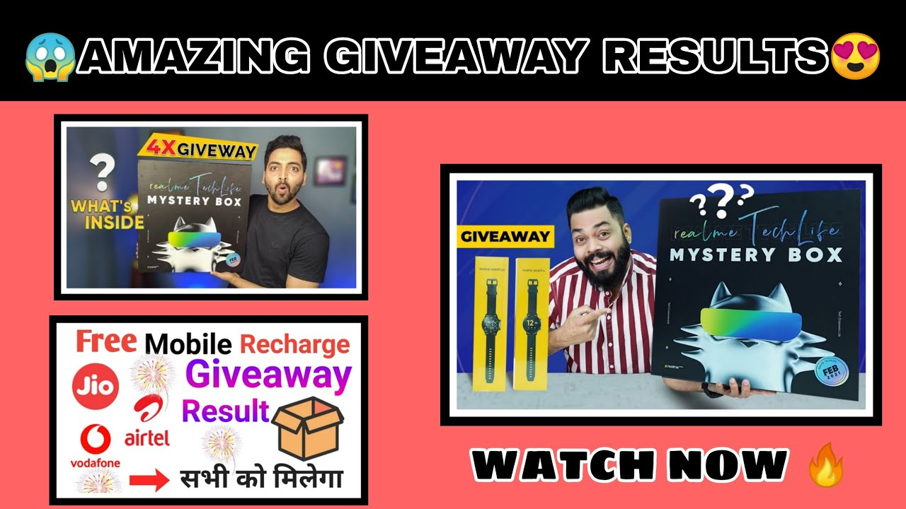 #GIVEAWAYRESULT TRAKING TECH | TECHNO RUHEZ😱| by giveaway time