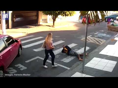 School mum SHOOTS AND KILLS robber in Sao Paulo Brazil