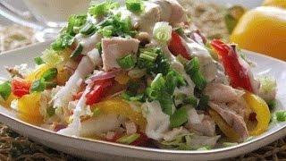 видео Салат мексиканский, рецепт с болгарским перцем