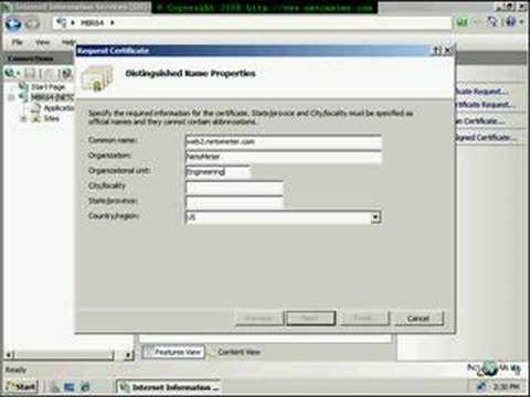 Windows 2008 - How to Install GoDaddy SSL Certificate - IIS7 - YouTube