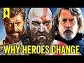 watch he video of Why Our Heroes Are Different Now (God of War, The Last Jedi, Logan) – Wisecrack Edition