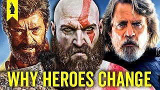 Why Our Heroes Are Different Now (God of War, The Last Jedi, Logan) - Wisecrack Edition