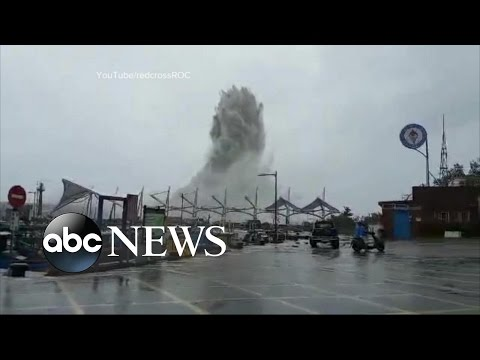 Monster Typhoon Slams the Coast of China