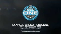 It All Begins Tomorrow! - ESL One Cologne at LANXESS Arena