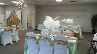 Mint Green and Gold Event Design