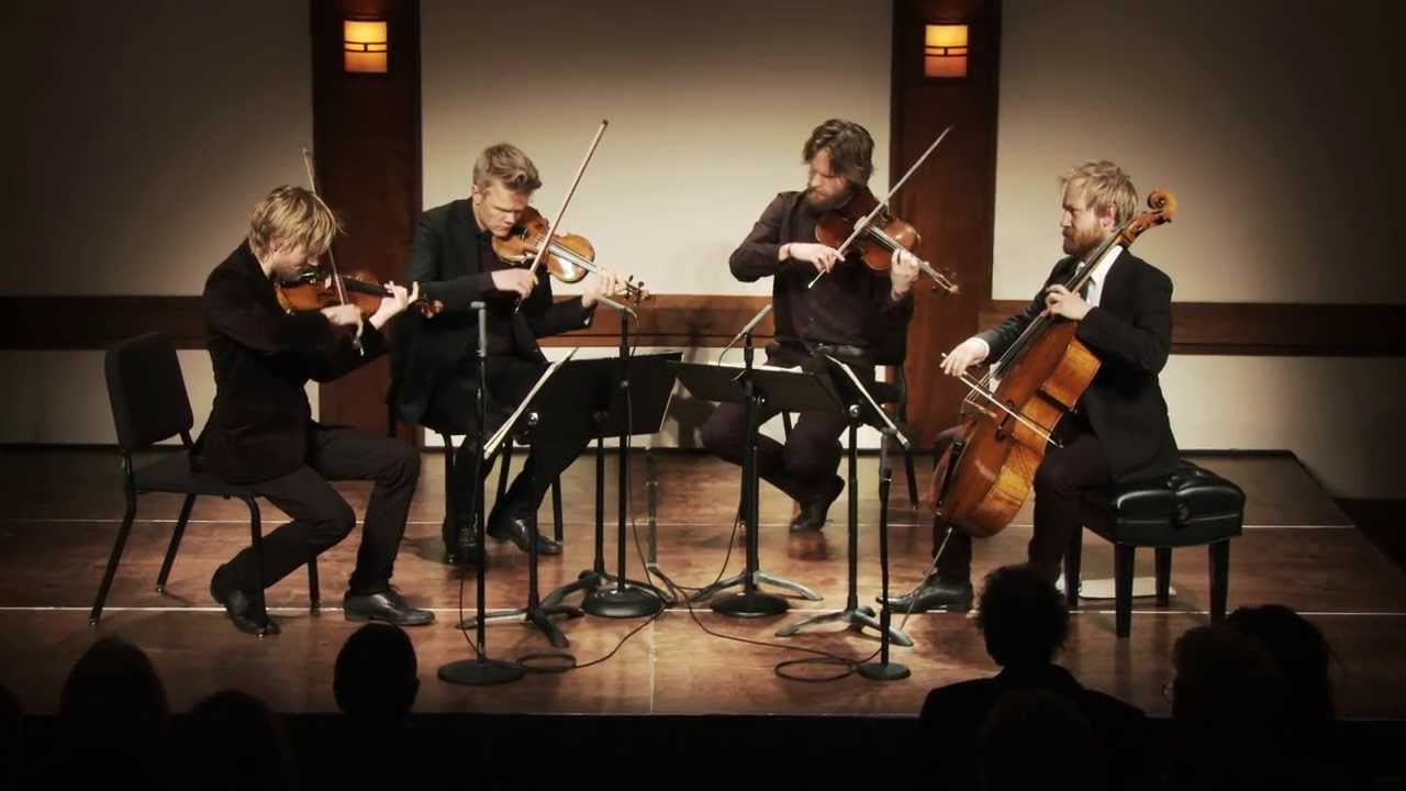 Danish String Quartet at CMS - Nu blomstertiden kommer