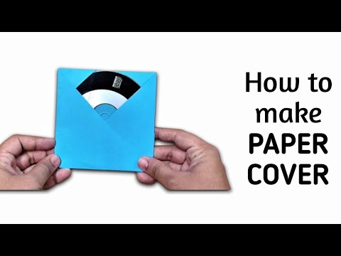 How to make origami paper CD / DVD cover | Origami / Paper Folding Craft, Videos and Tutorials.