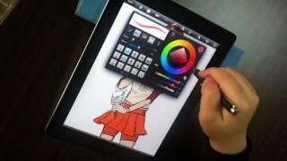 用 iPad2  & DAGi Pen 電容式觸控筆 繪圖  方便  有趣 省錢  有效率
