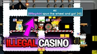 @MODERATOR CAUGHT PLAYING CASINO | Growtopia